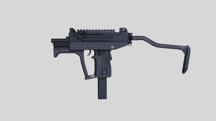 Uzi Pro 9mm Submachine Gun 3D Model