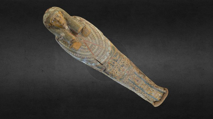 Sarcophagus Lid for Unknown Person 3D Model