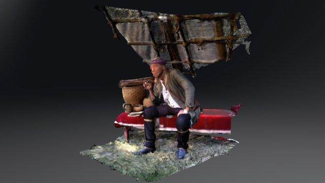 Daniel Fire Hawk Abbott, Nanticoke (nente-go). 3D Model