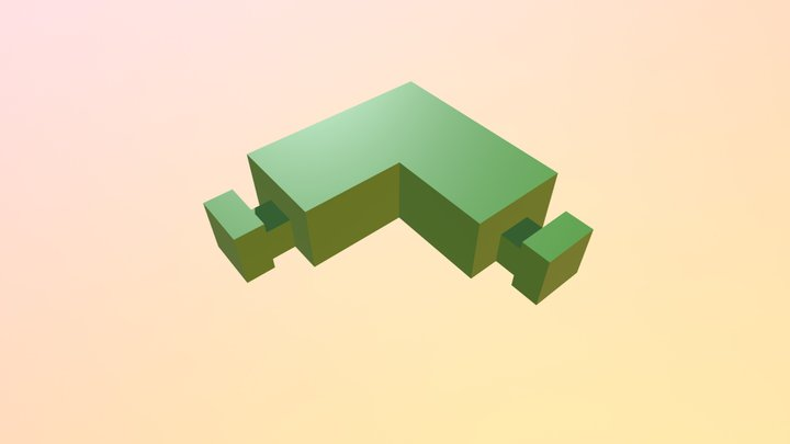 extension - square angle (2) 3D Model