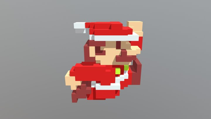 Mario Santa 3D Model