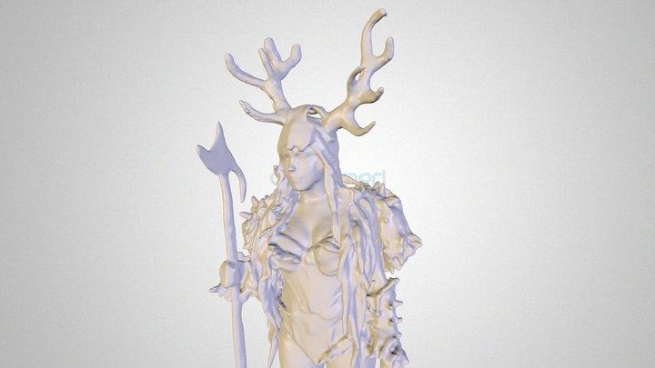 3D Human Female Game Character  3D Model