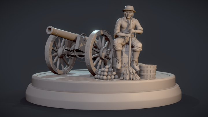 Young Michiel de Ruyter 3D Model