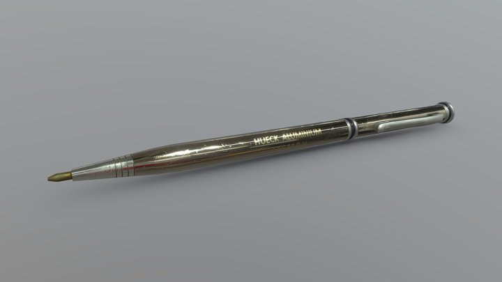 Aluminium Pen 3D Model
