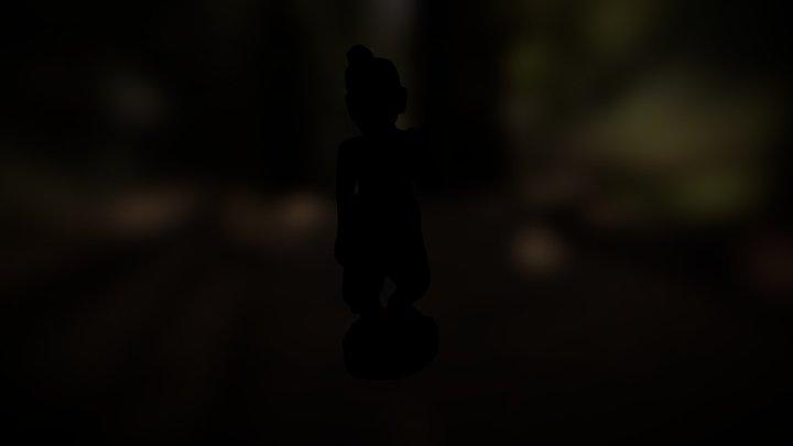 Antique Nat Statue from Myanmar (Teakwood) 3D Model