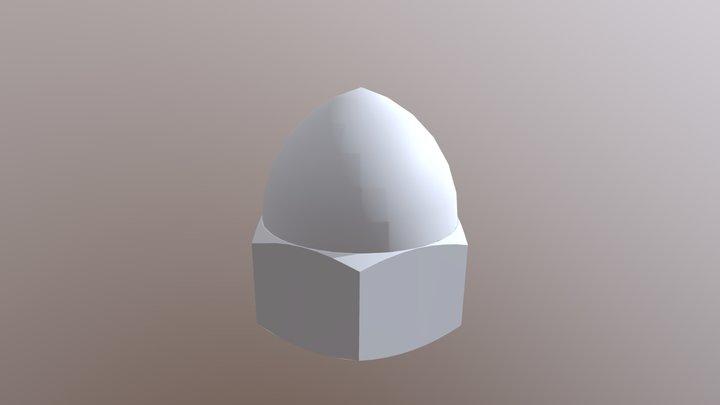 DIN 1587 - CAP NUT 3D Model