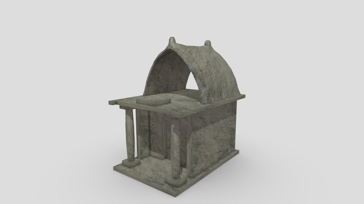Low-pol Shrine 3D Model