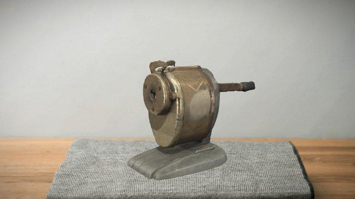Antique Pencil Sharpener 3D Model