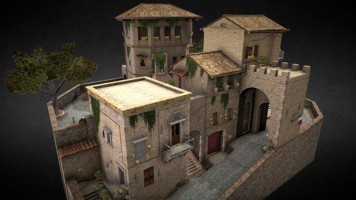 Assisi City Scene 3D Model