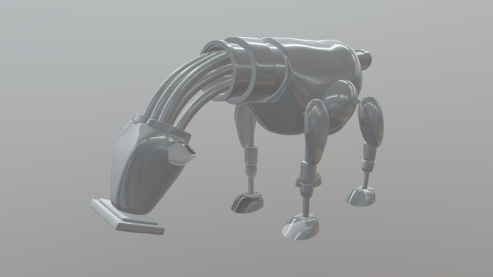 Cow recycling robot - Compulsory 2, WIP 3D Model