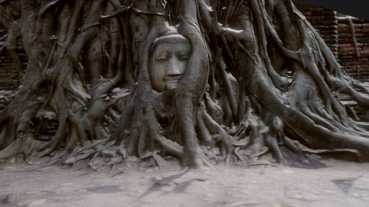 Wat Mahathat 3D Model