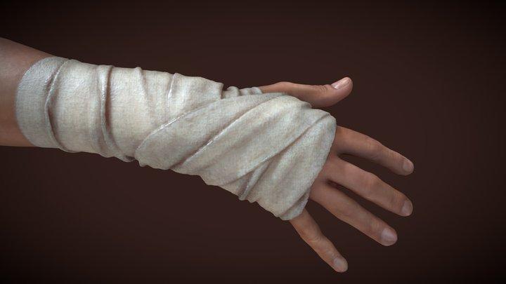 a bandaged hand (PBR texture) 3D Model