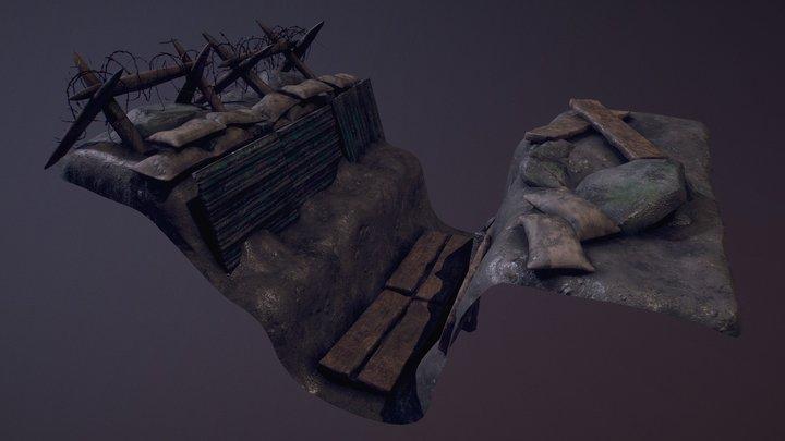 World War 1 Trench Piece 3D Model