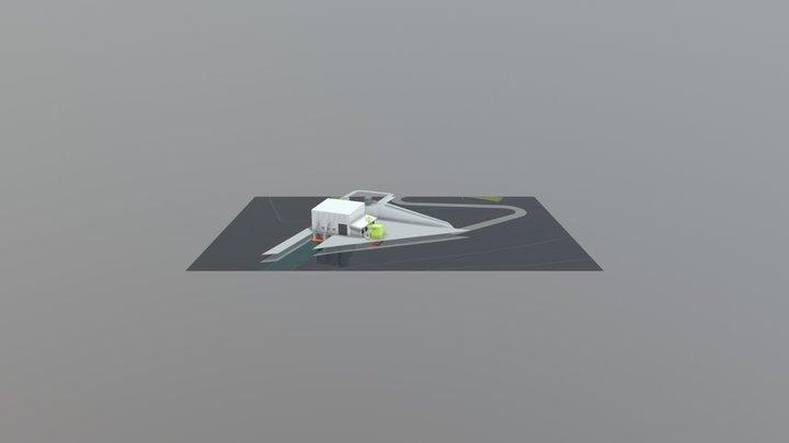 Correção Casa De Força 3D Model