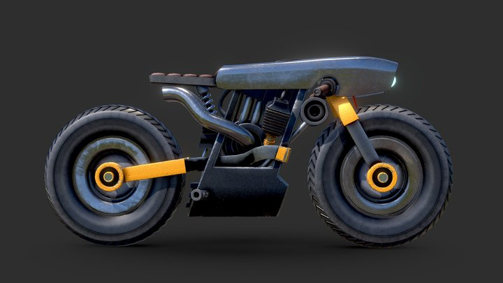 Cyberpunk Bike Concept Design 3D Model