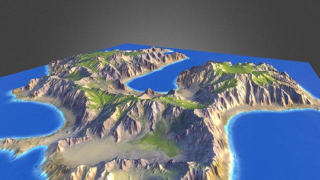 WM Island 3D Model