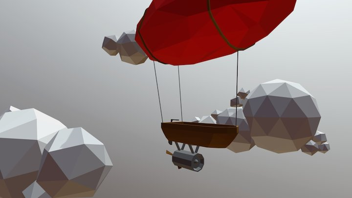 Balloon Ship 3D Model