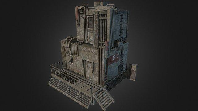 Sci-fi maintenance house 3D Model