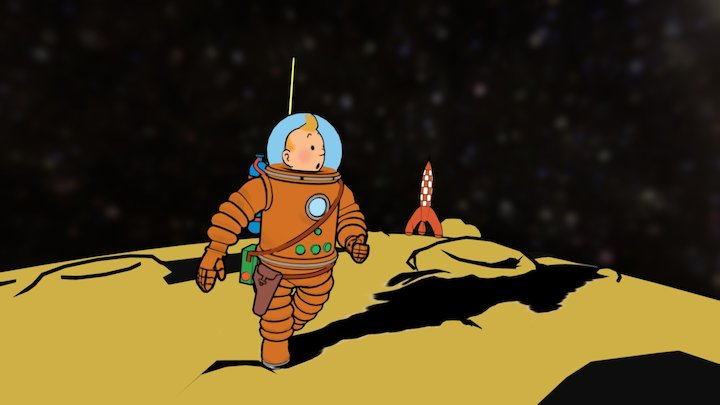 TINTIN Explorers on the Moon 3D Model