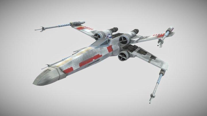 T-65 X-wing Starfighter - Star Wars 3D Model