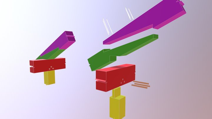 Rafter Scarf Joint 3D Model
