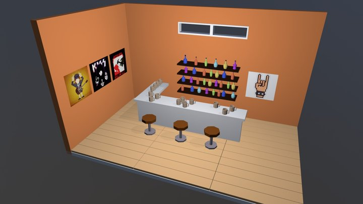 Bar Lowpoly 3D Model