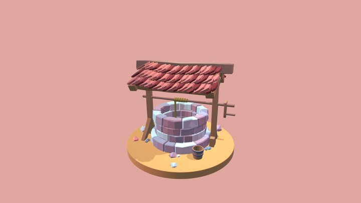 Low Poly Well 3D Model