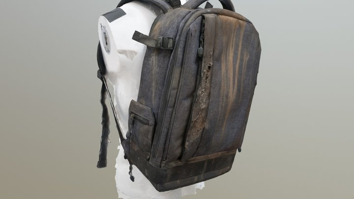 Apocalypse-Backpack-on-Manikin 3D Model