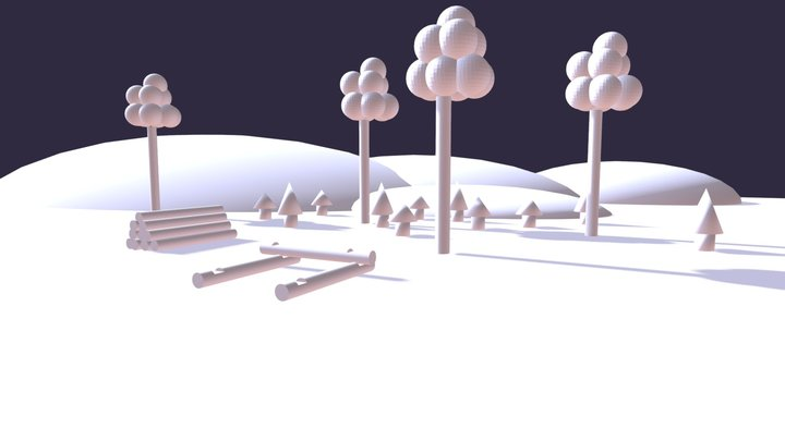 Course Work: Model with Primitives 3D Model