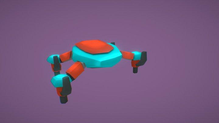 SciFi Drone - Low Poly 3D Model