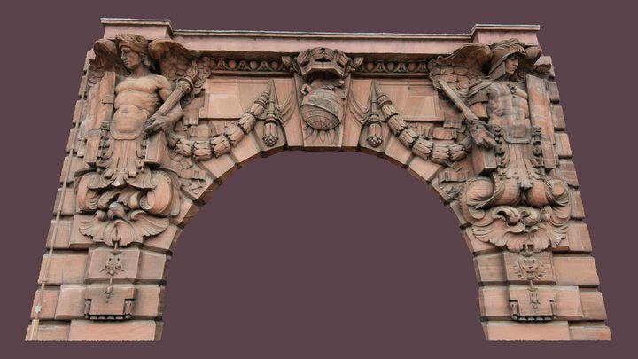 Dundee Courier, arch detail (from 5 photos) 3D Model