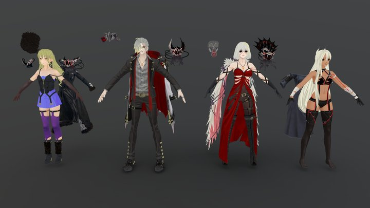 Code Vein Cosplay References 3D Model