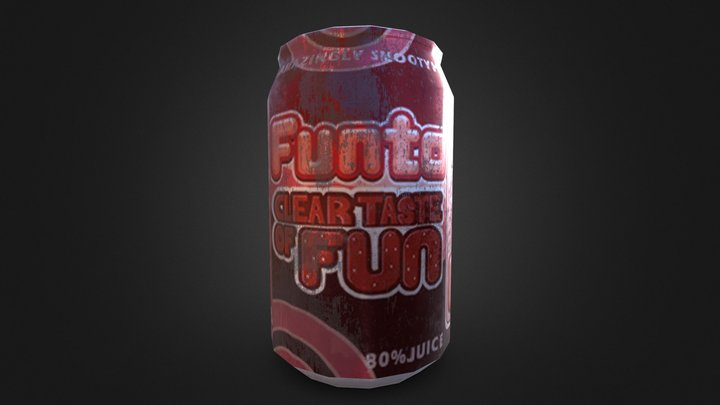 Drink Can 1 3D Model