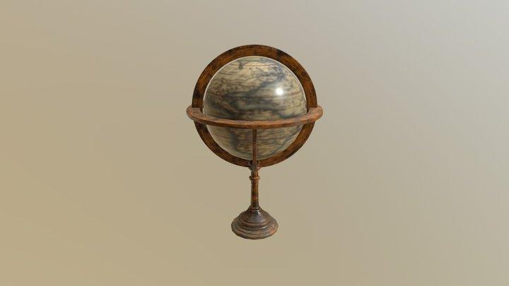 Vintage Old Globe - Low poly globe 3D Model