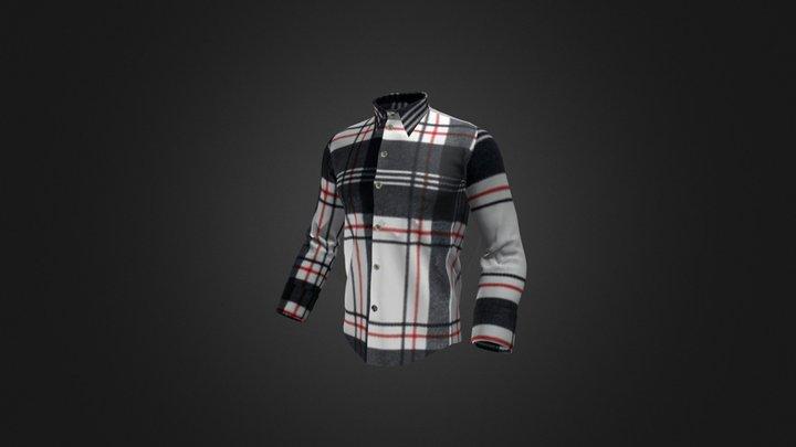 Men's casual Shirt 3D Model