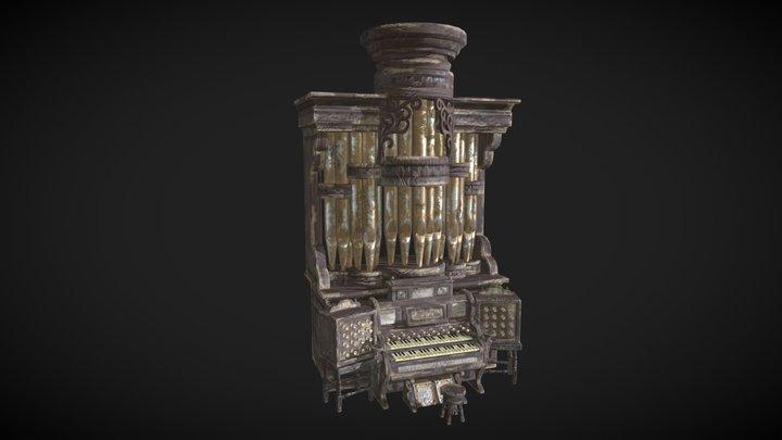 Old Church Organ 3D Model