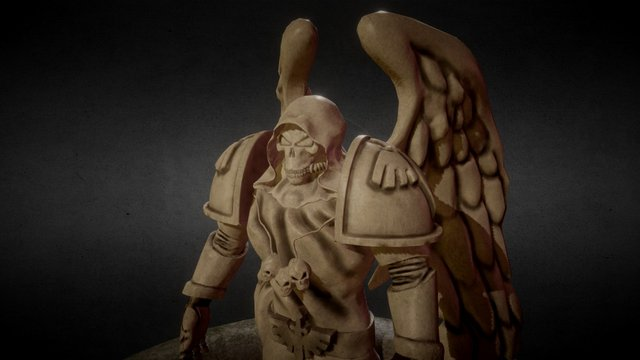 Dark Angels Space Marine Statue (complete LP) 3D Model