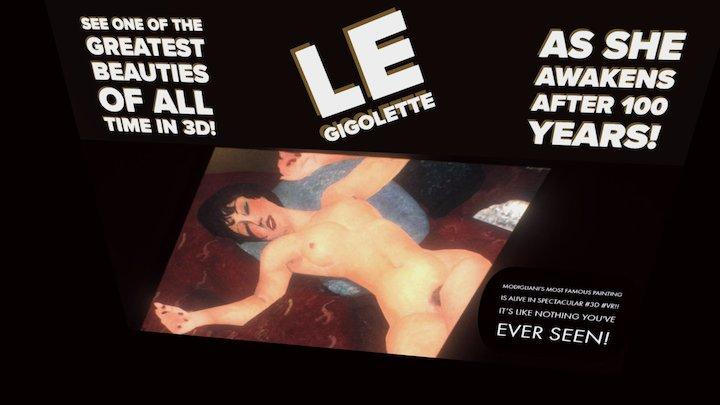 Le Gigolette Postcard 3D Model