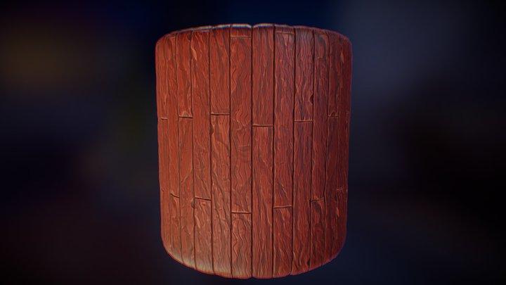 Stylized Wood 3D Model