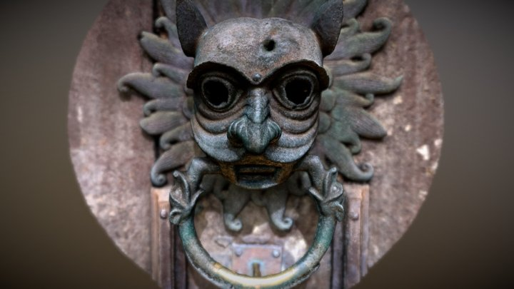 Durham Cathedral Sanctuary Knocker 3D Model