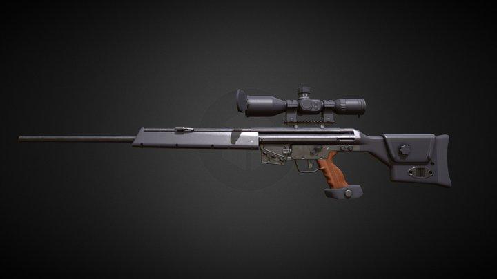 Heckler & Koch PSG 1 3D Model