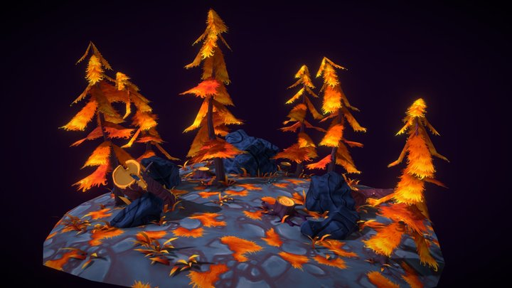 Stylized Environment 3D Model
