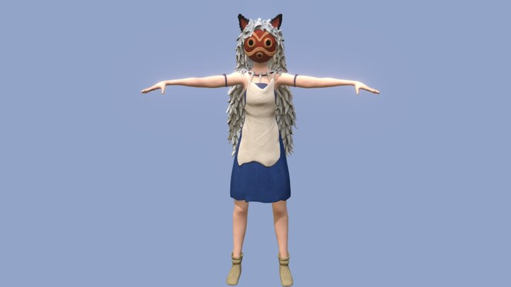 Princess Mononoke - School Project 3D Model