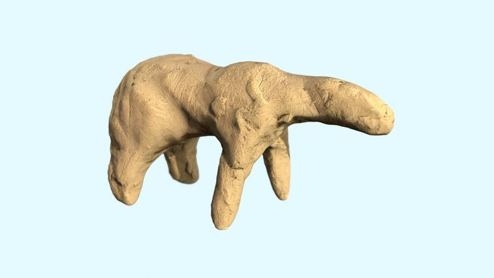 Clay Figure - Polar Bear 3D Model