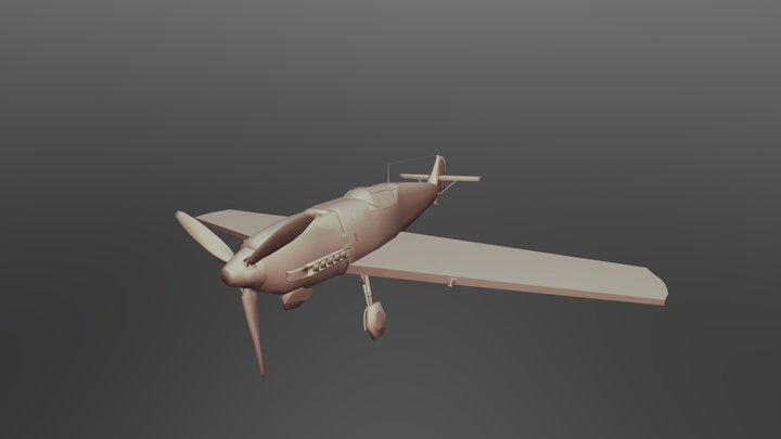 BF_109E German Plane 3D Model