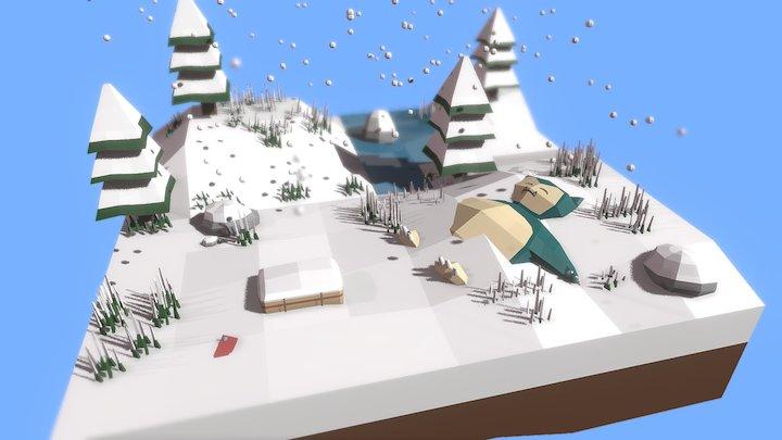 Bosque Invierno / Winter Forest 3D Model