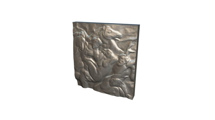 Arrogance 01 - Relief Sculpture Scan - Swatch 3D Model