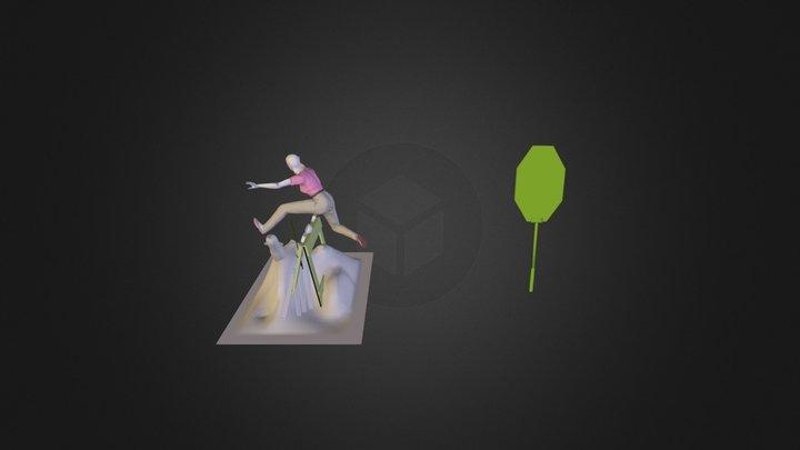 Jumping Construction Barrier 3D Model