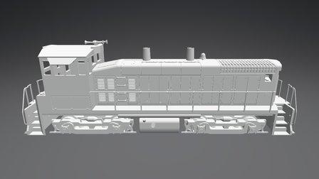 EMD SW1500 3D Model