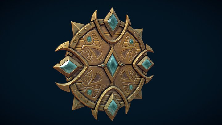 Shield of the Anglers 3D Model